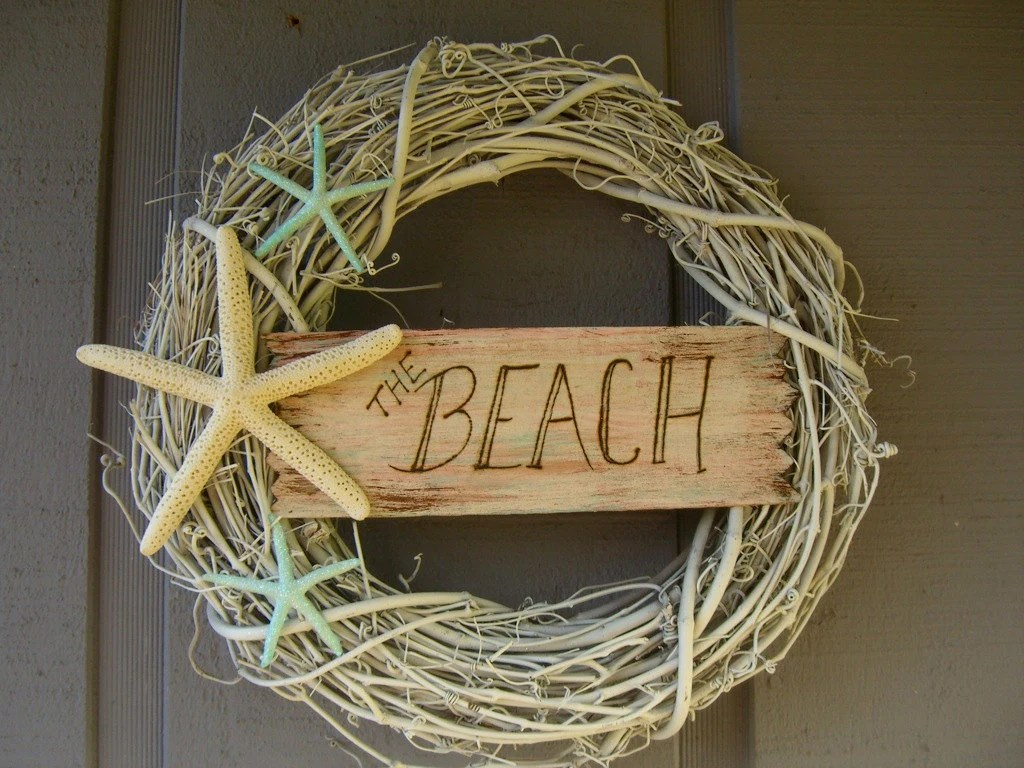 Best Wreath Beach House Decor Shabby Chic By Sandnsurfcreations This Month