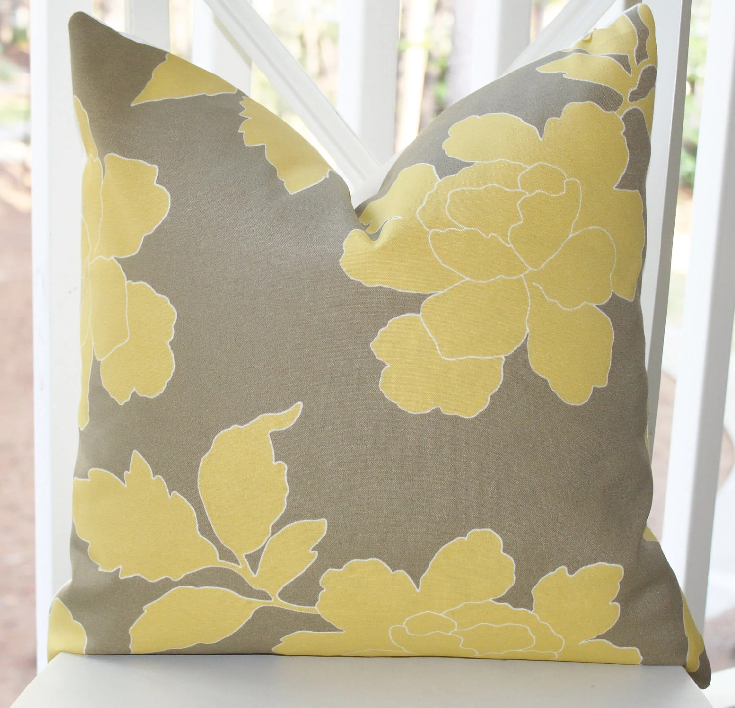 Best Decorative Pillow Cover Yellow Grey Dwell Studio Pillow Cover This Month