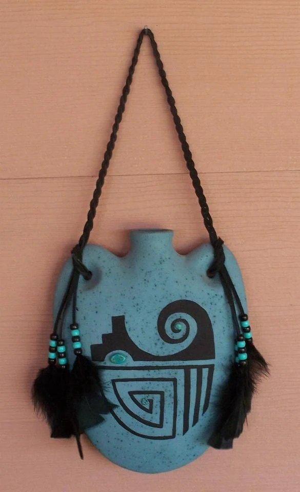 Best Southwest Indian Native American Style Canteen Wall Hanging This Month