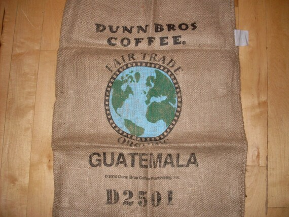 Best Guatemala Fair Trade Organic Dunn Bros Gunny Sack Globe This Month