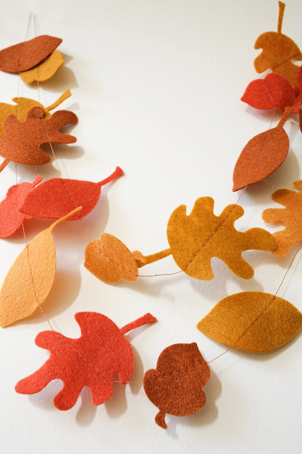 Best Fall Autumn Leaves Acorns Felt Garland Fall By This Month