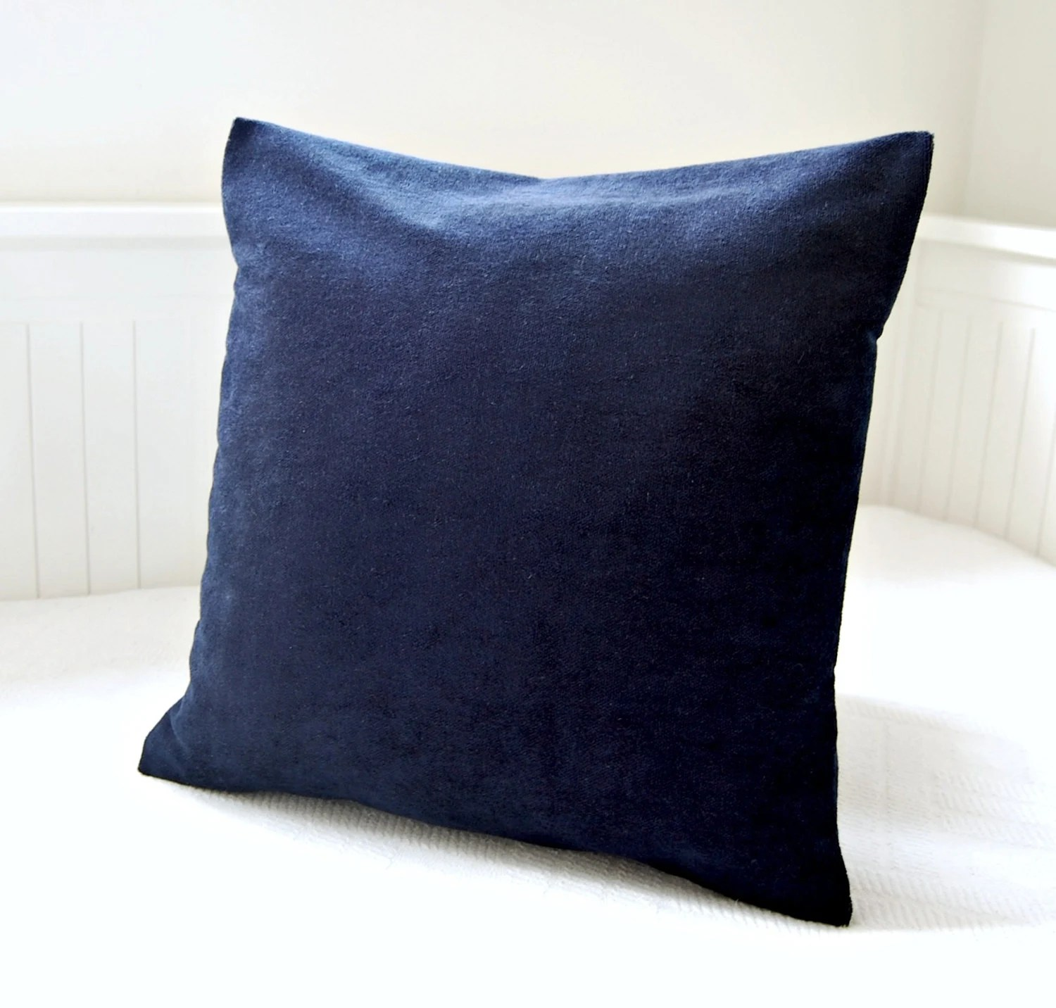 Best Dark Navy Blue Accent Pillow Cover 16 Inch Solid Decorative This Month