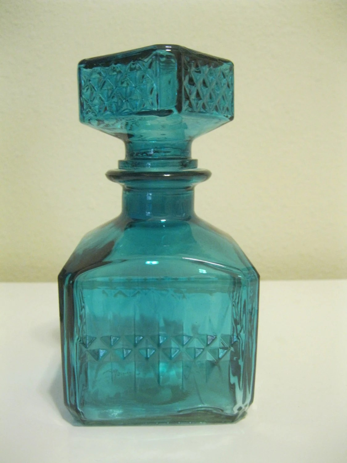Best Blue Square Decorative Colored Glass Bottles By Bertolibridal This Month