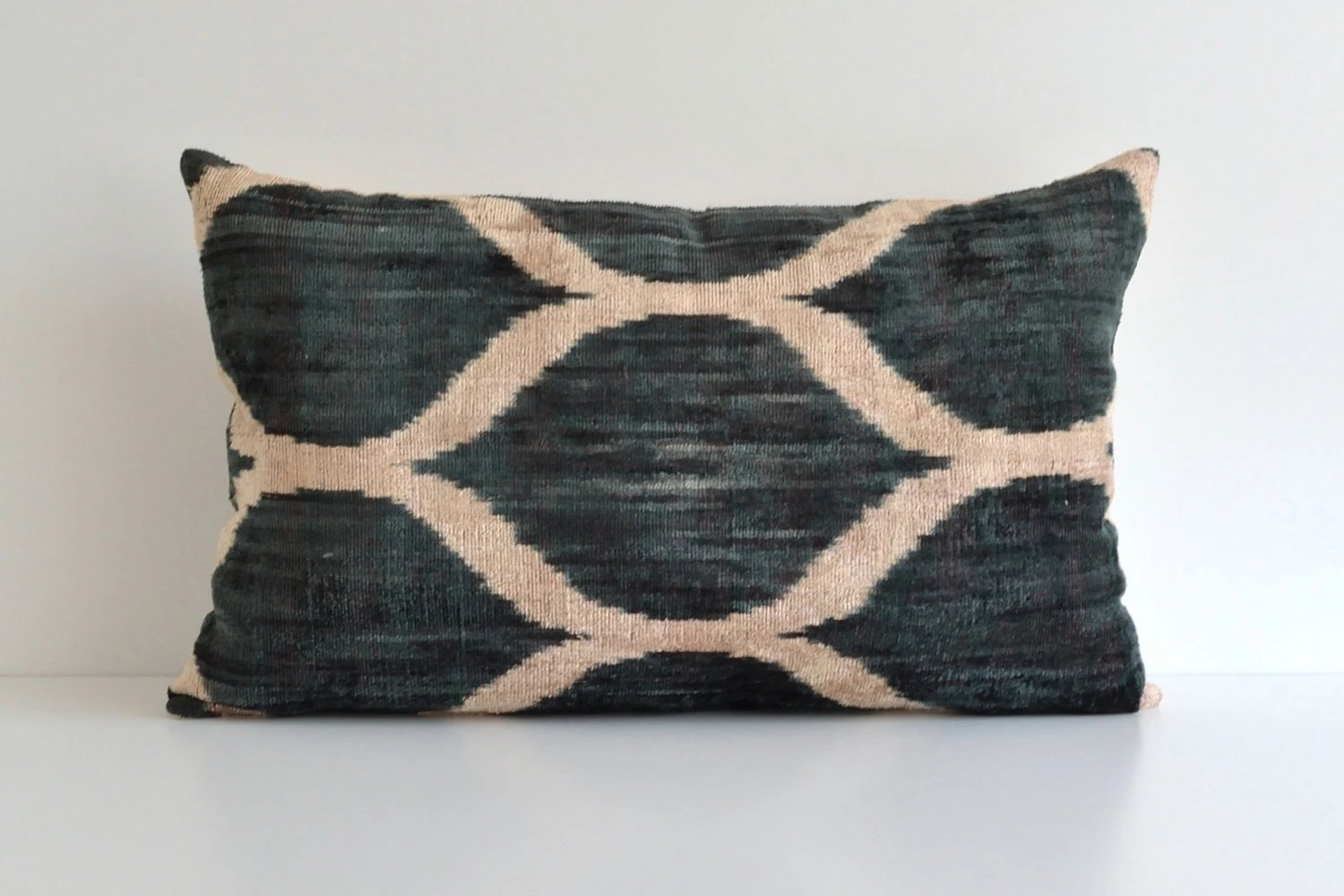 Best Green Ikat Pillow Large Couch Pillows Modern Throw By Pillowme This Month