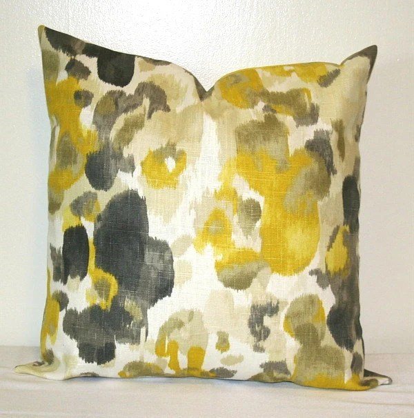 Best Yellow And Grey Linen 18 Inch Decorative Throw Pillows Cushion This Month