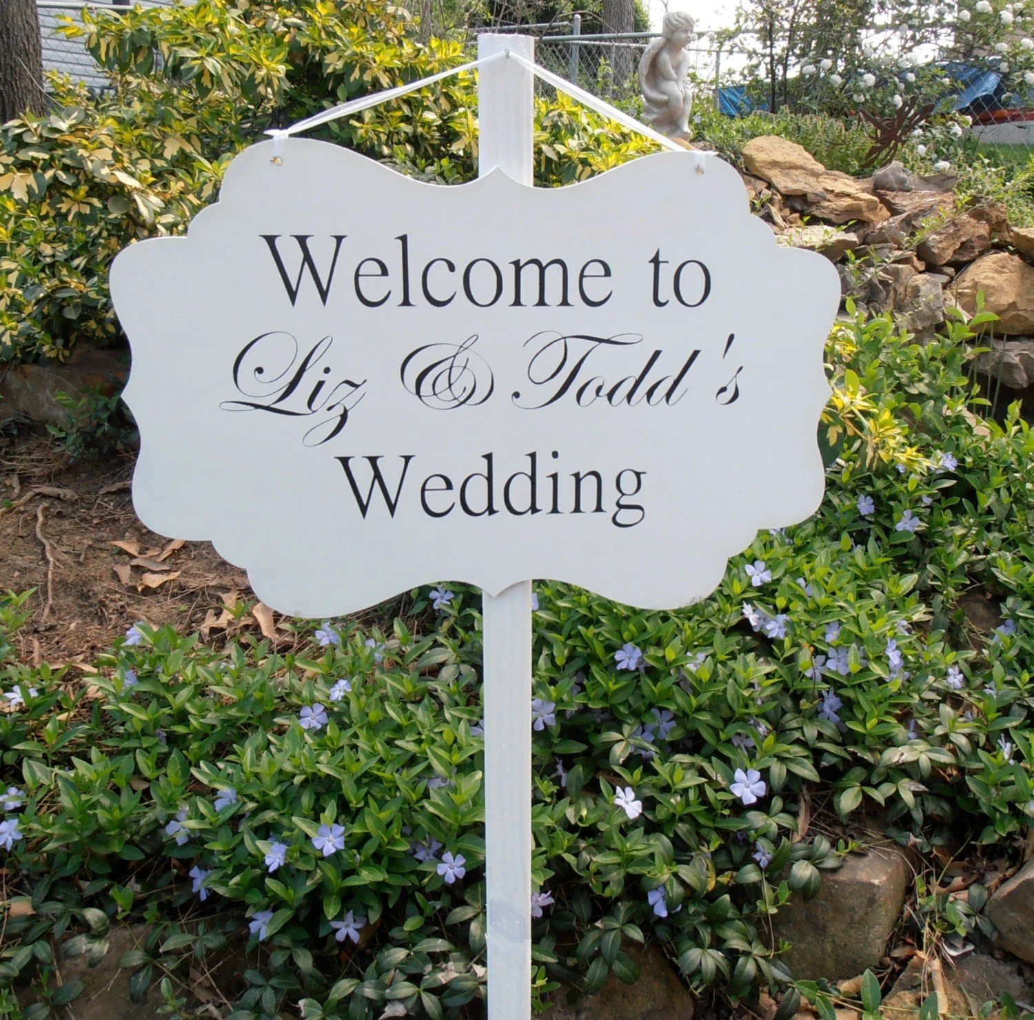 Best Custom Wood Welcome Wedding Yard Sign Decoration By Nesedecor This Month