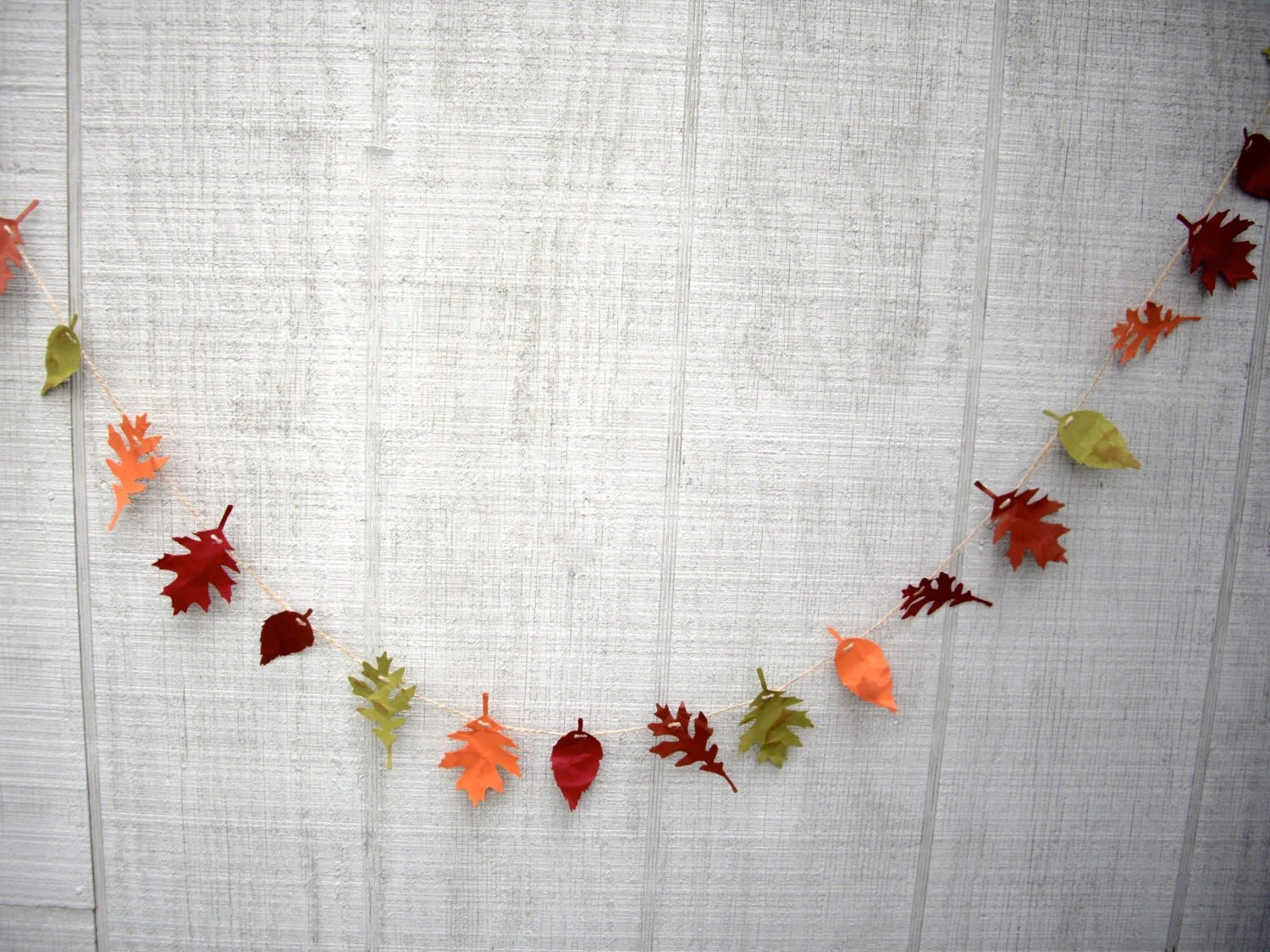 Best Leaf Garland Fall Garland 6 Ft Fall Paper Leaf Garland Fall This Month