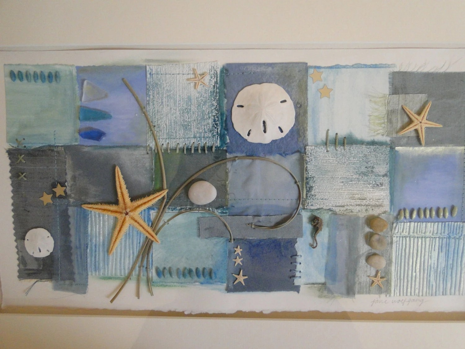 Best Items Similar To Mixed Media Collage Beach Themed Wall This Month