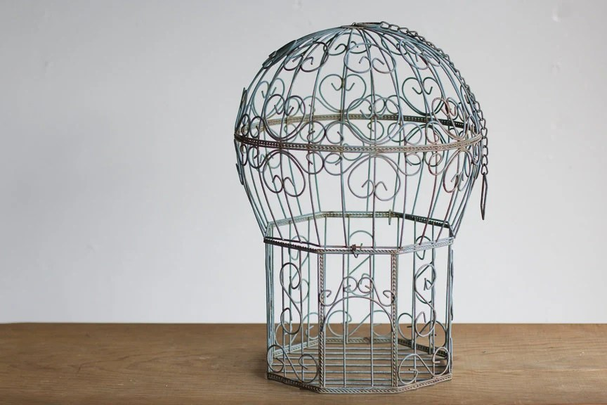 Best Vintage Birdcage Light Blue Bird Cage Vintage Home Decor This Month