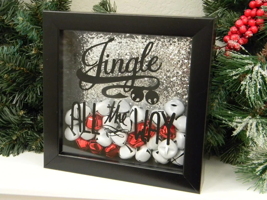 Best Jingle All The Way Christmas Decor Shadow Box By Justforkeeps This Month