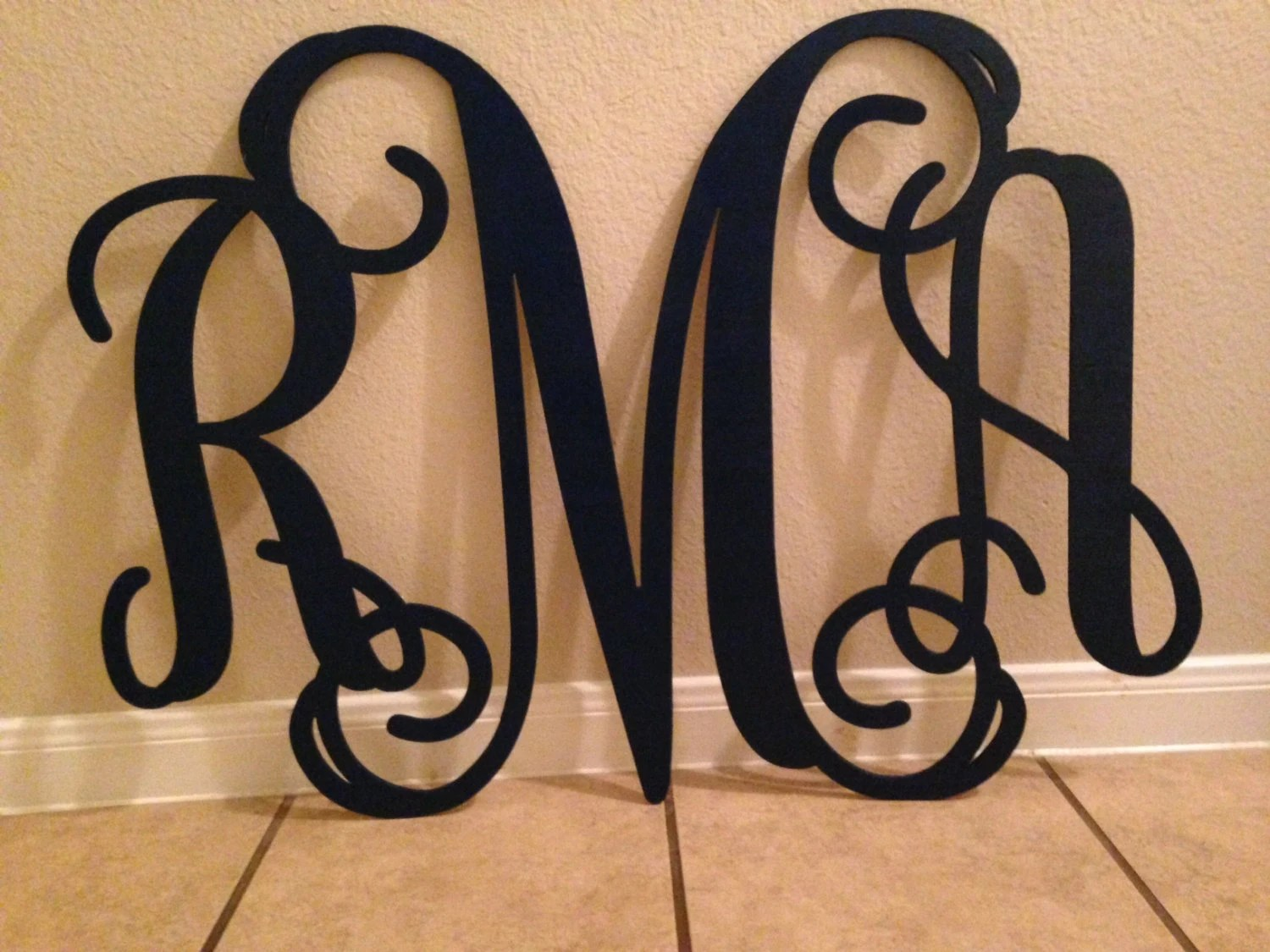 Best Wooden Monogram Home Decor Wall Art Initial By This Month