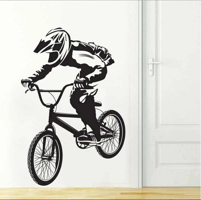 Best Bmx Art Wall Decal Stickers Bike Boys Room Decor Bicycle Vinyl This Month