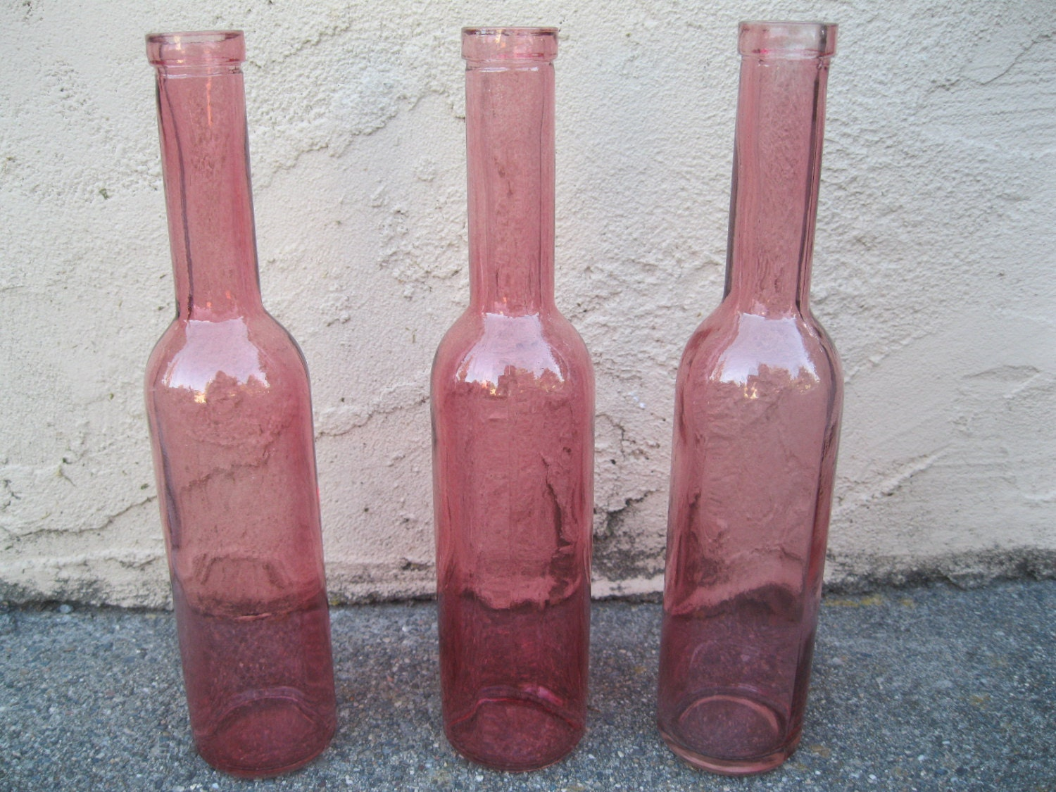 Best Three Pink Decorative Colored Glass Bottles Floral Bud Vase This Month