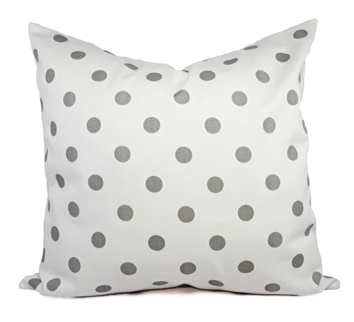 Best Two Decorative Throw Pillow Covers Grey And White Polka Dot This Month