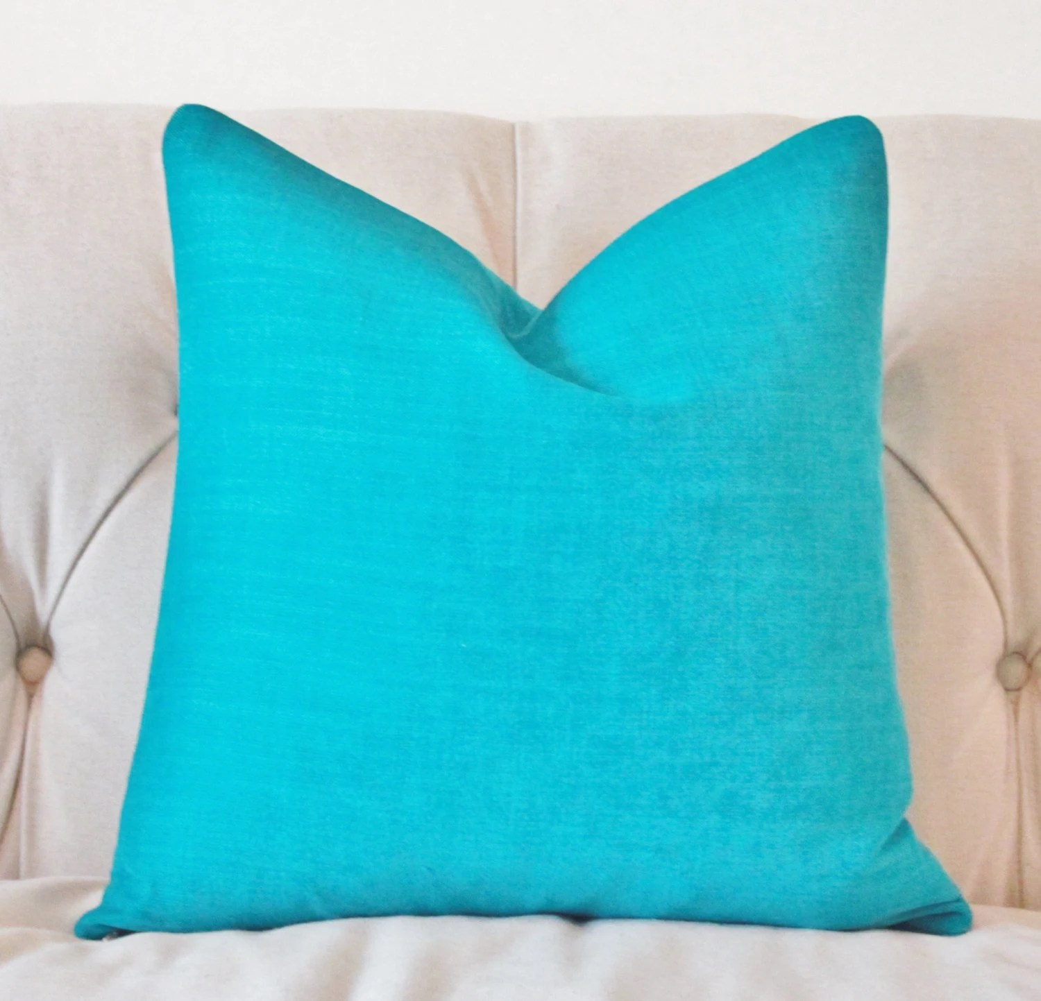 Best Decorative Teal Pillow Aqua Turquoise Pillow Cover This Month