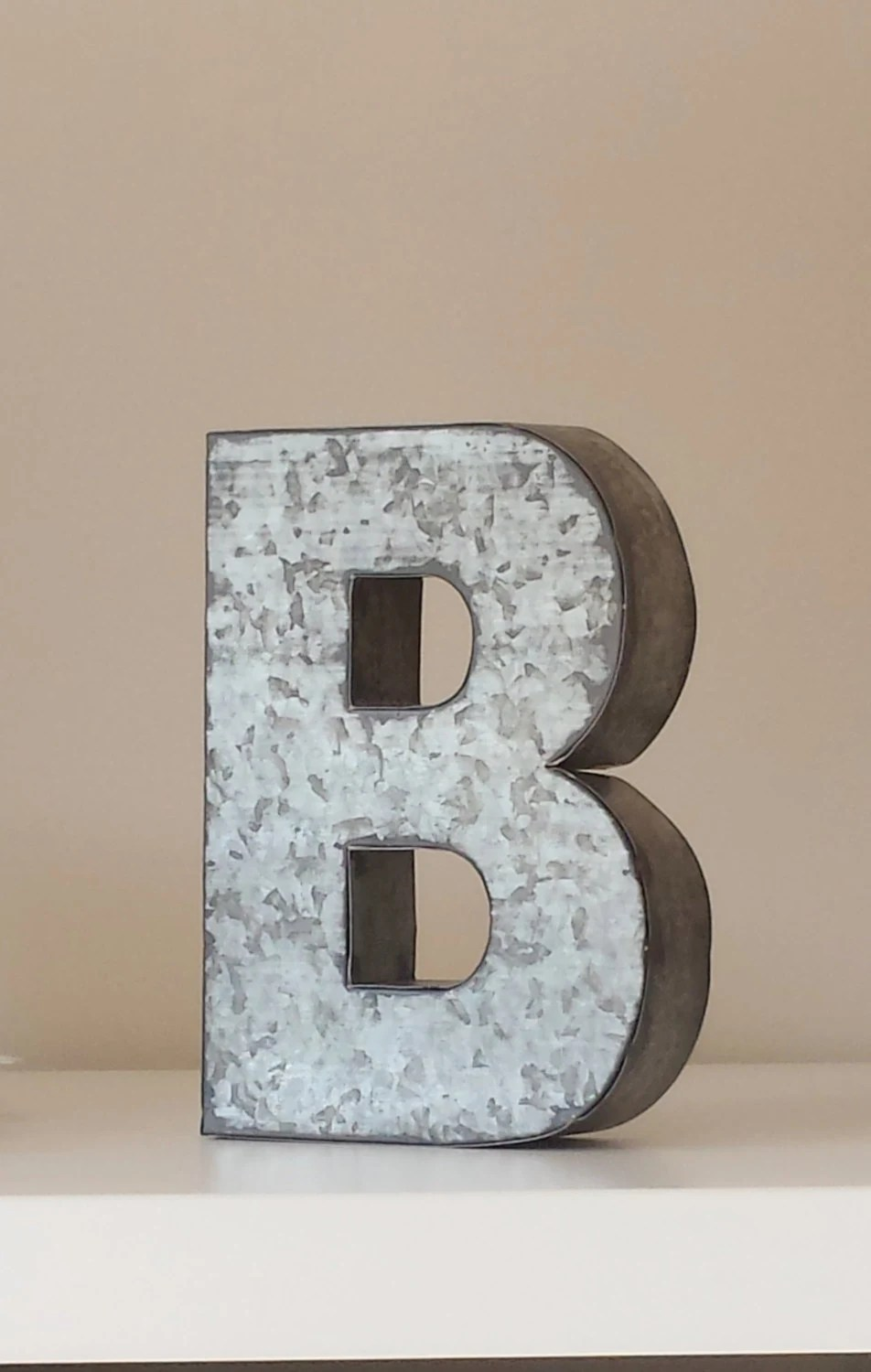 Best Sale 6 Large Metal Letter Zinc Steel Initial Home Room This Month