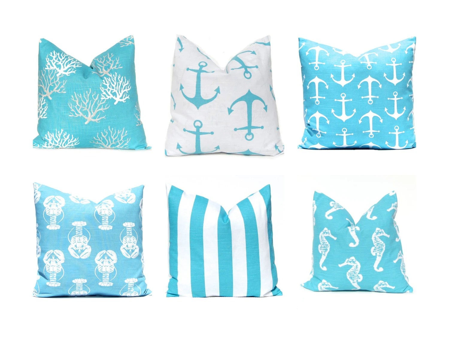 Best Pillow Cover Pillows Aqua Pillows Decorative By This Month