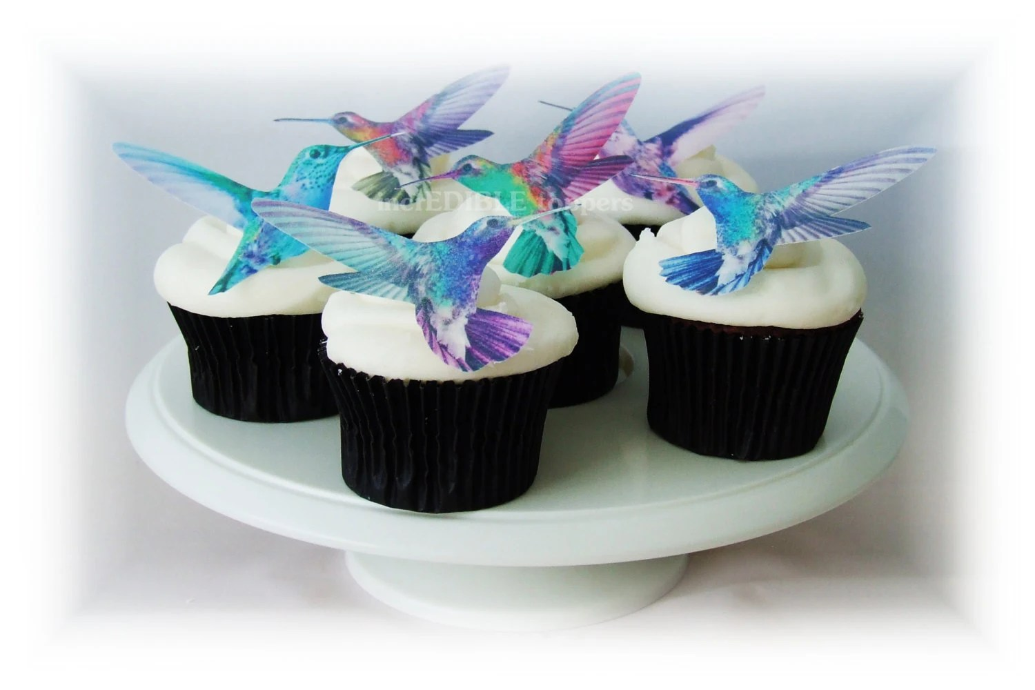 Best Edible Cake Toppers Hummingbirds 12 Cupcake Toppers Wedding This Month
