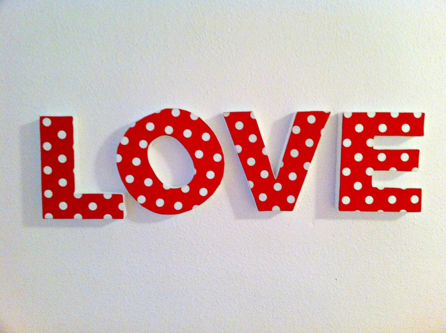 Best Love Letters 3D Decorative Letters 100 Handmade Wall This Month