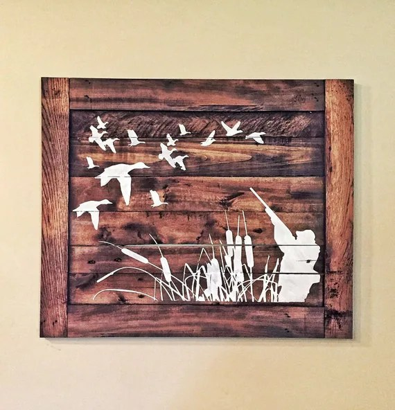 Best Duck Hunting Wood Sign Hunters Home Decor This Month