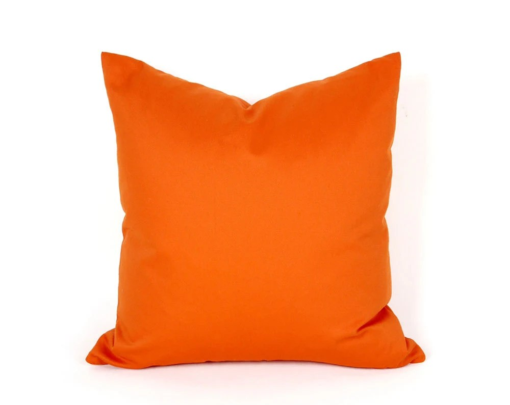 Best Bright Orange Throw Pillow Solid Orange Pillow Covers This Month