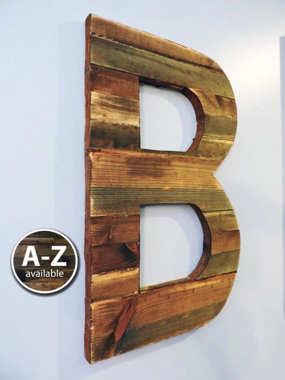 Best Large Wood Letters Rustic Letter Cutout Custom Wooden Wall This Month