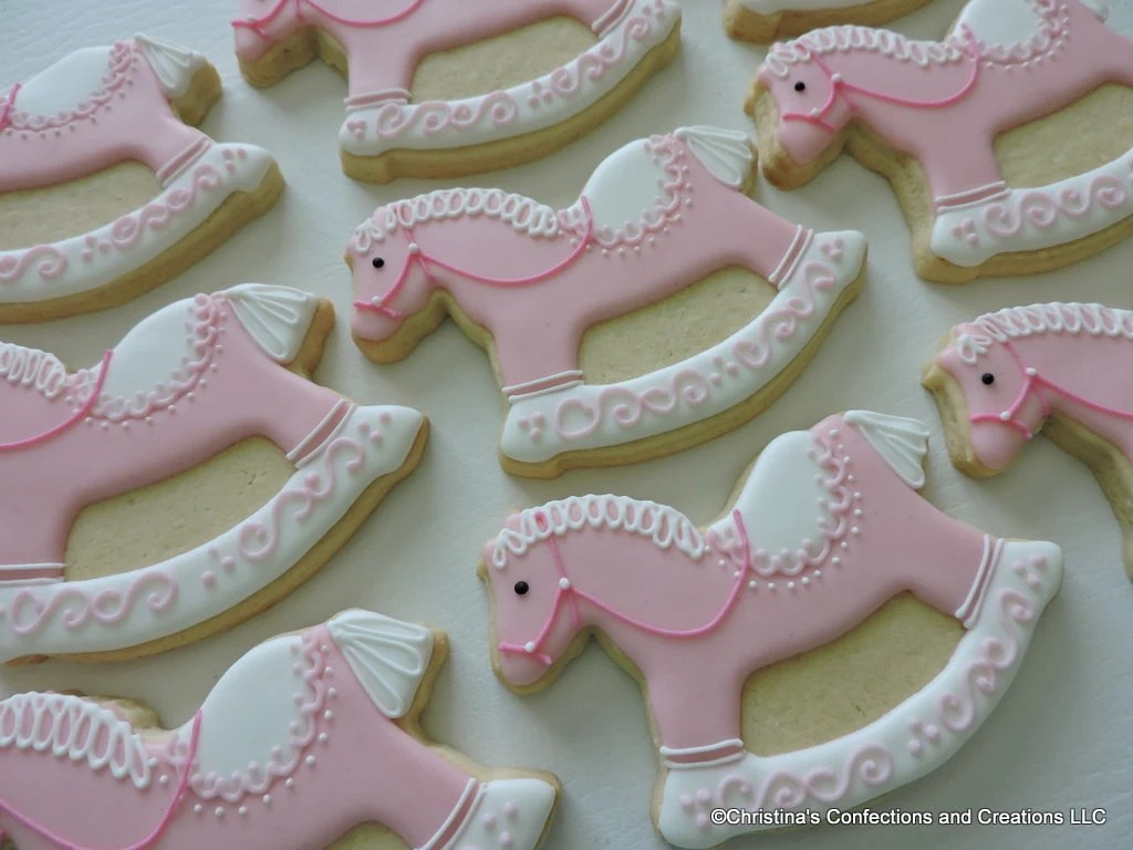 Best Hand Decorated Rocking Horse Sugar Cookies Party Favor For This Month