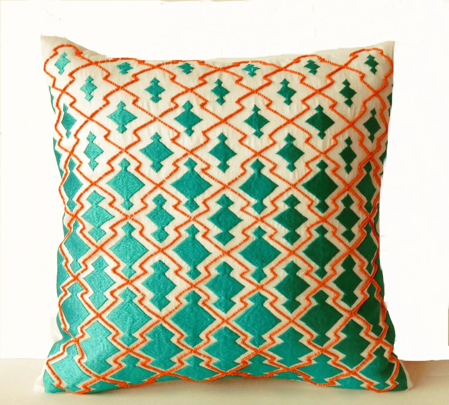 Best Throw Pillows Teal Orange Decorative Pillowcase In Thread And This Month