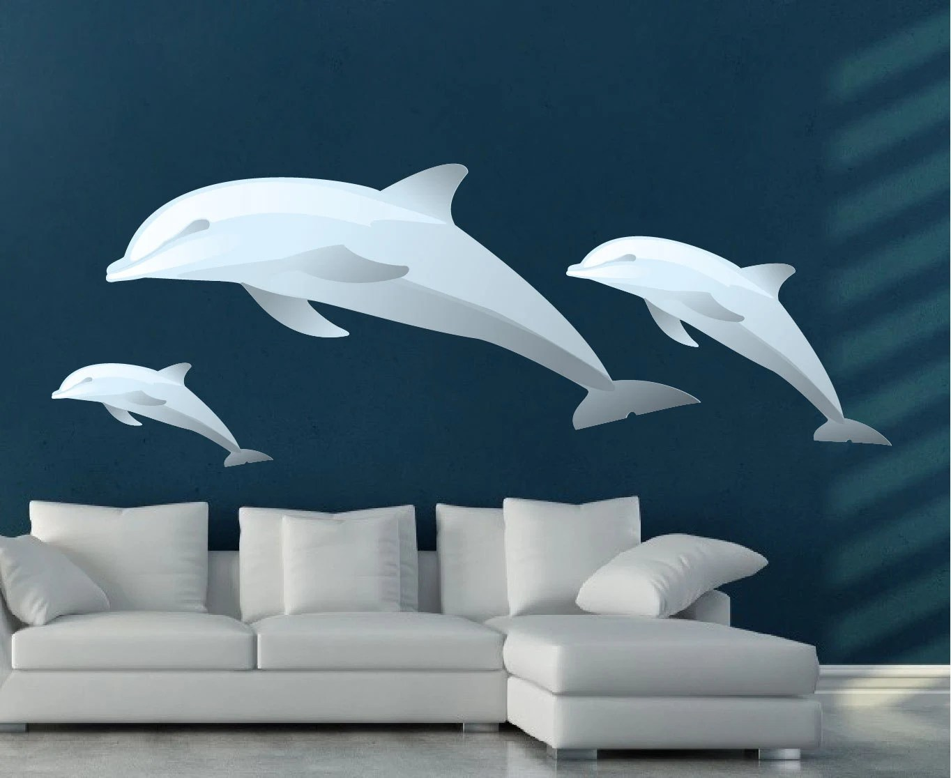 Best Dolphins Decals Dolphin Wall Mural Applique Dolphin Art This Month