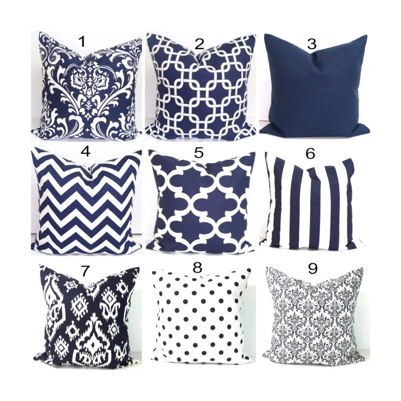 Best Navy Blue Pillows 24X24 Inch Decorative Pillow By This Month