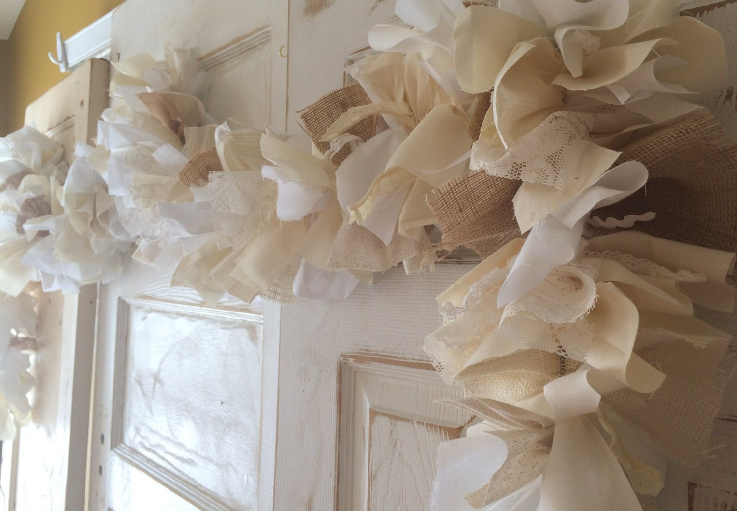 Best Burlap Wedding Decor Fabric And Lace Garland 6 10 Foot Rustic This Month