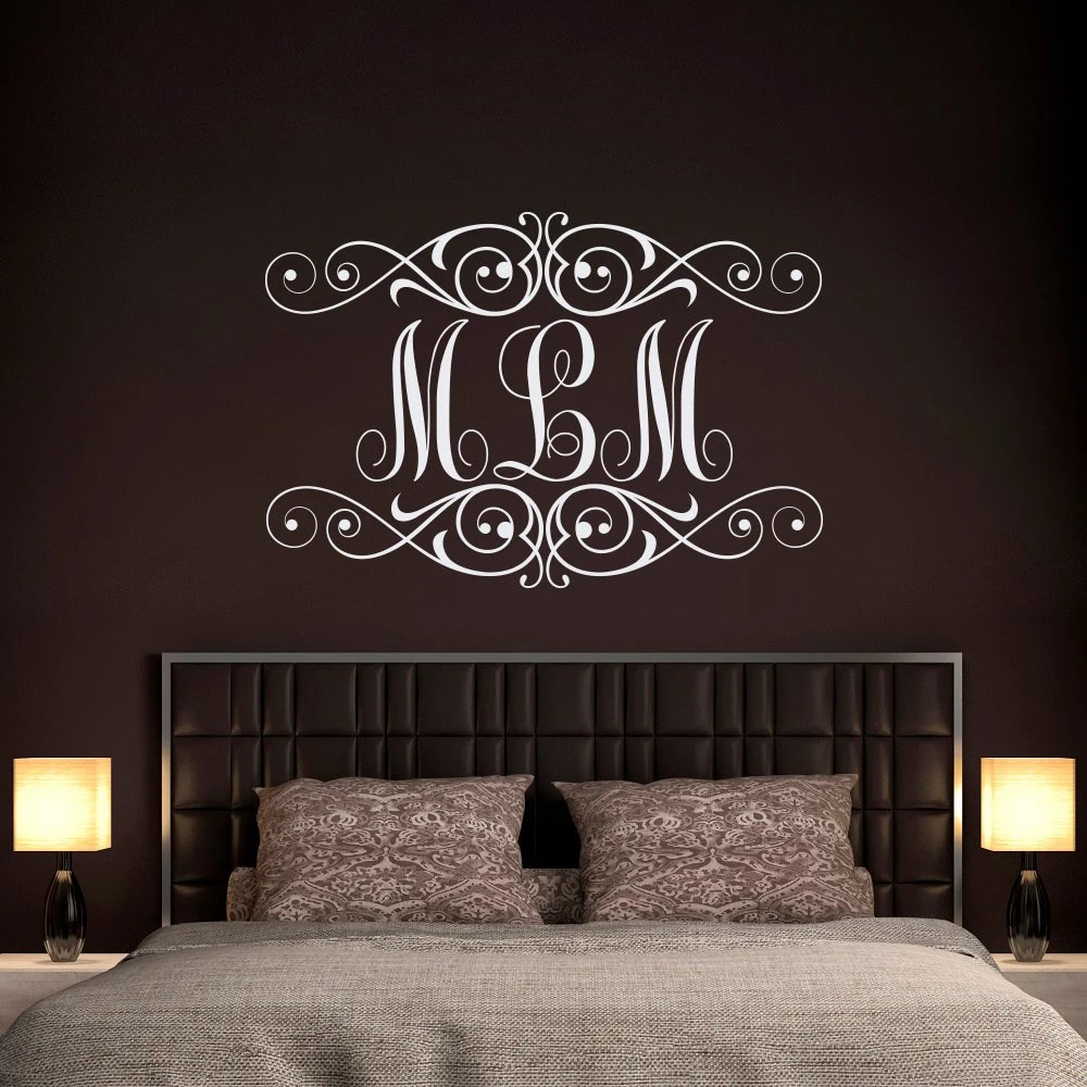 Best Monogram Wall Decal Personalized Initials Wall Decals This Month