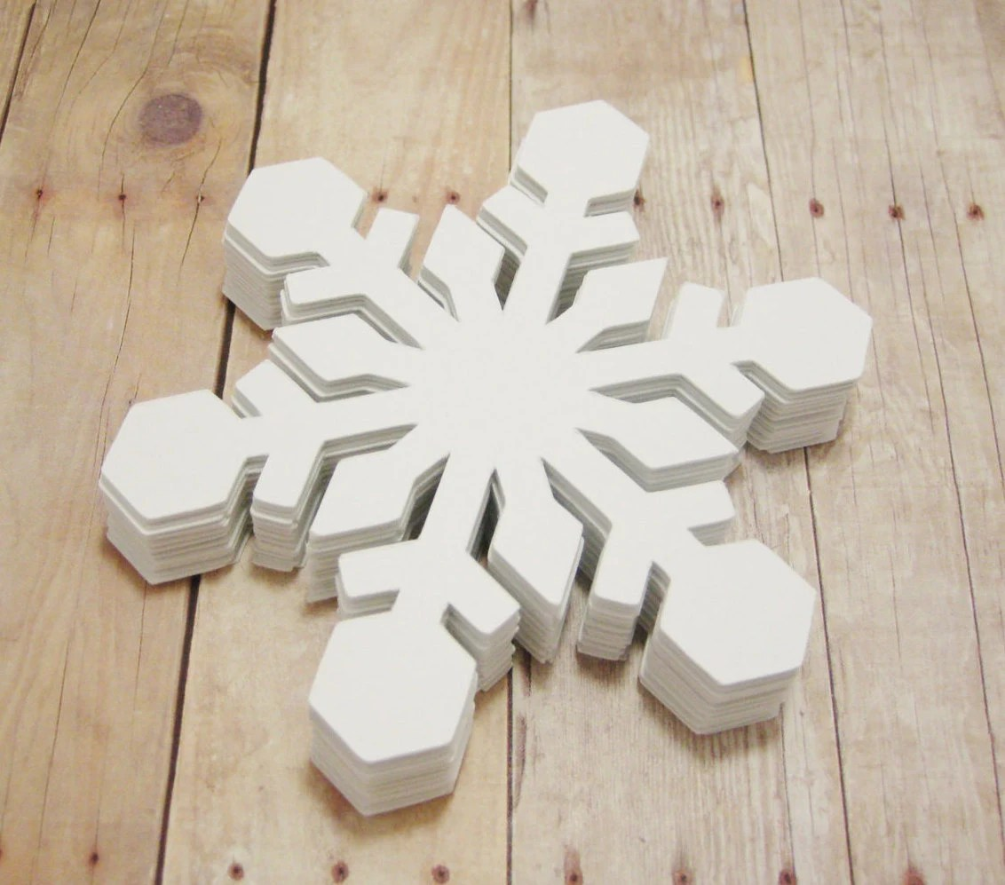 Best Snowflake Cutouts Large Cardstock Snowflakes Winter Crafts This Month