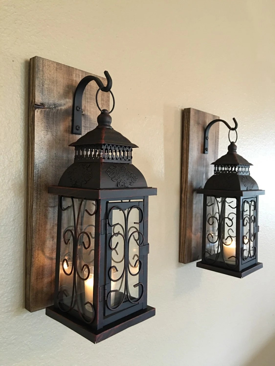 Best Lantern Pair Wall Decor Wall Sconces Bathroom Decor Home This Month