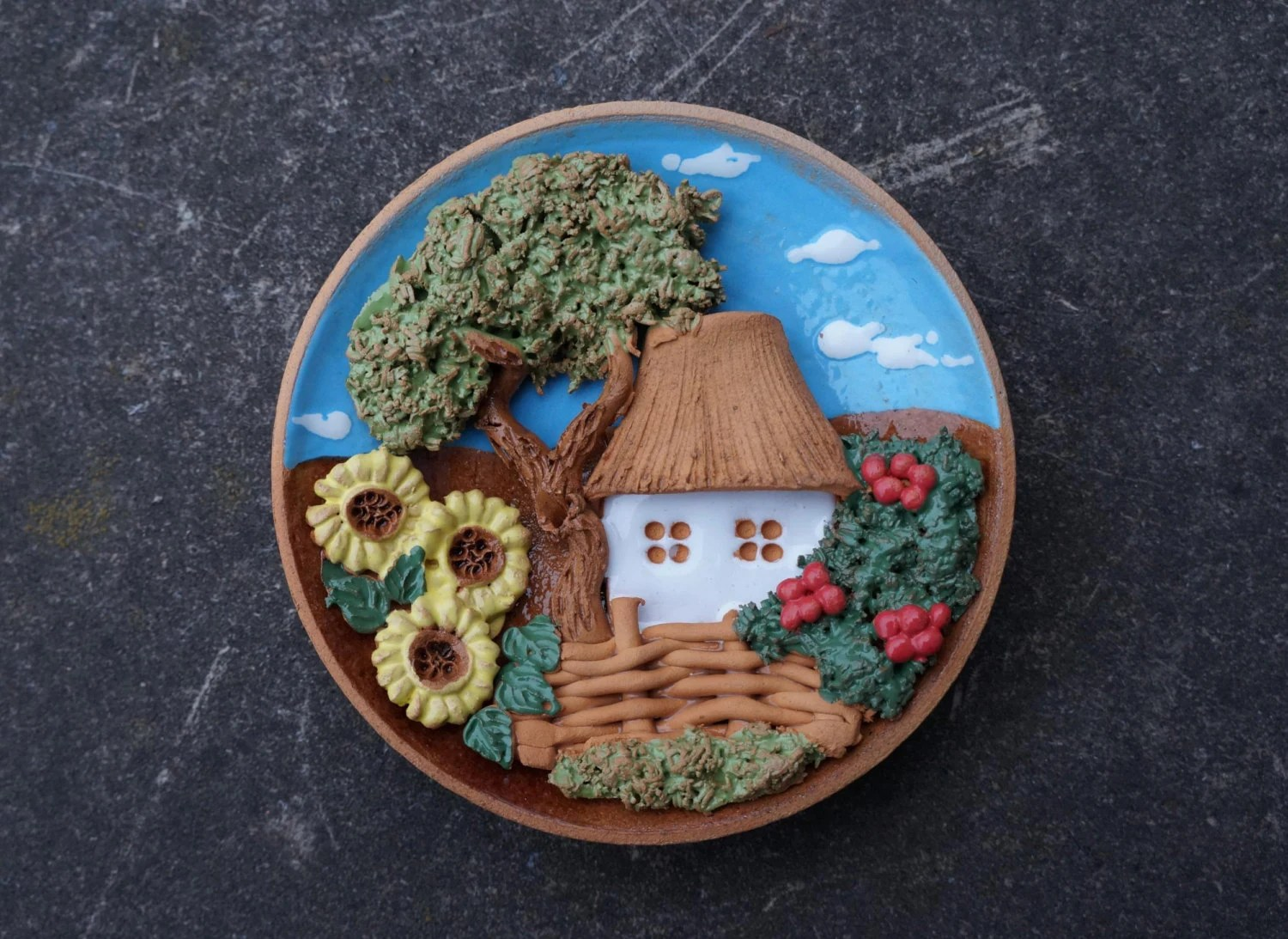 Best Ceramic Decorative Plate Country Wall Decor Rustic By This Month