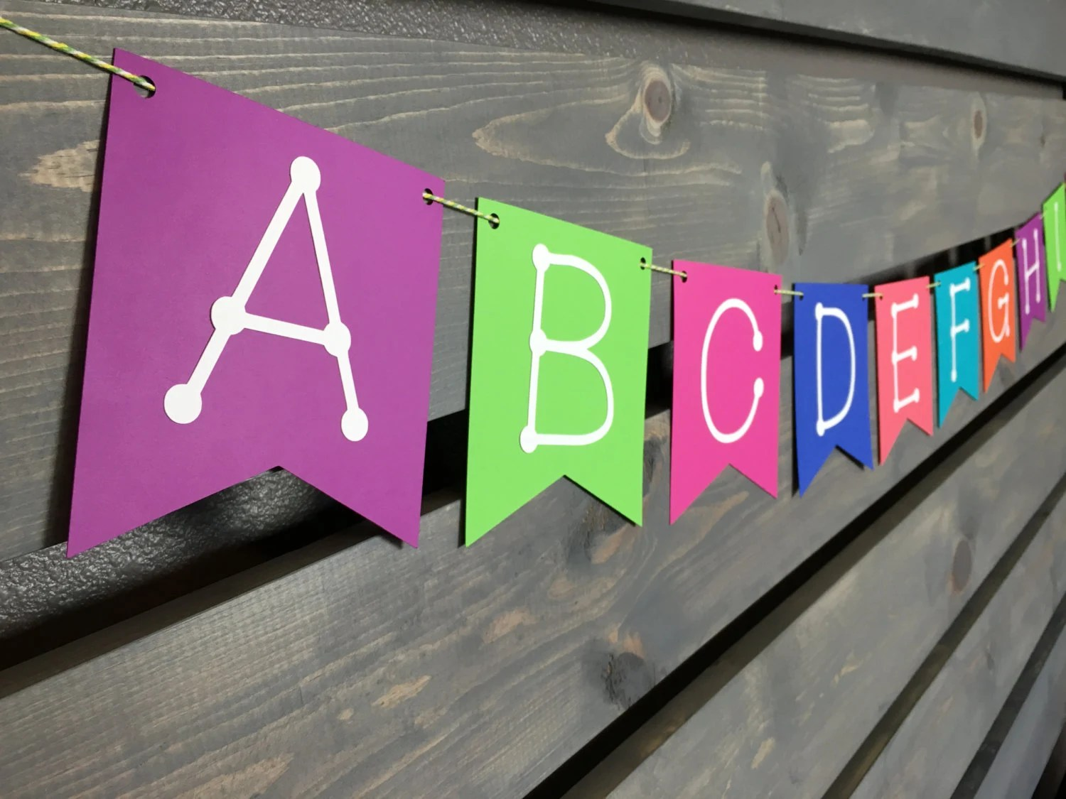 Best Bright Alphabet Banner Abc Banner Bright Colors This Month