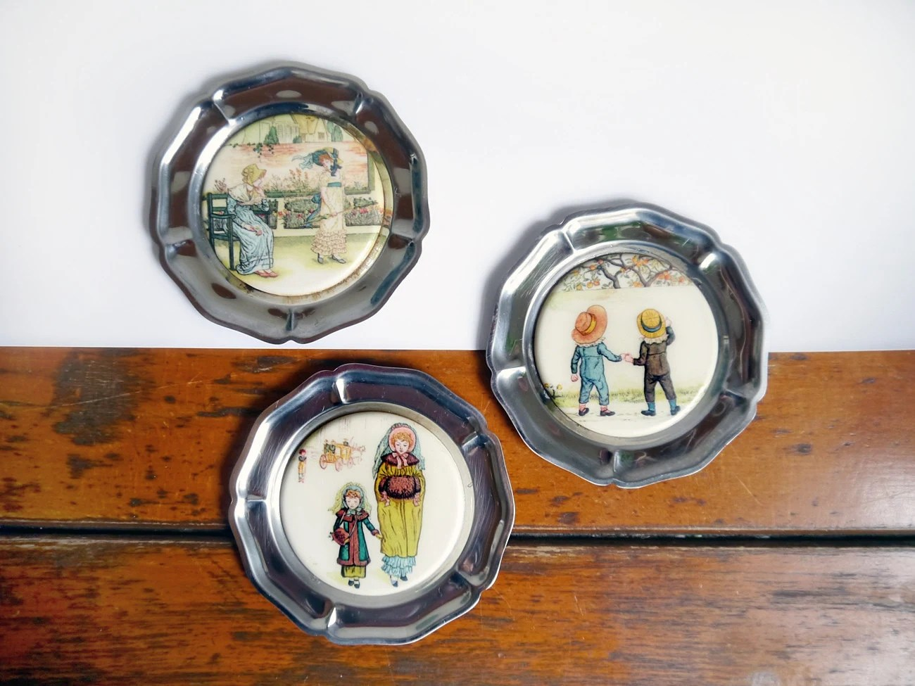 Best Vintage Coasters Three Decorative Figurative Regency Themed This Month