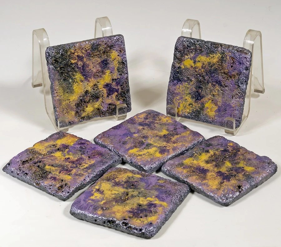Best Natural Stone Coasters Set Of Six Decorative 4X4 Tiles Hand This Month