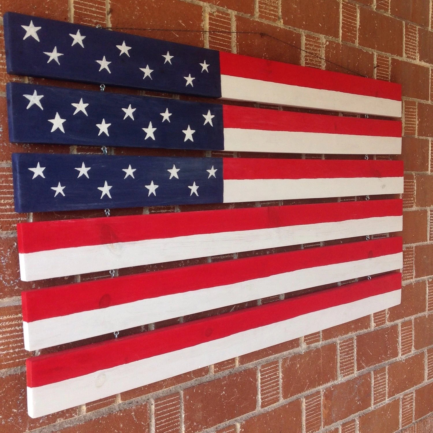 Best Large American Flag Home Decor Hand Painted American Flag This Month