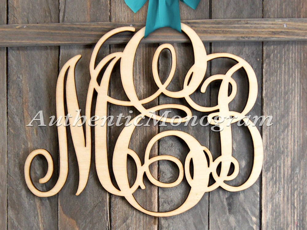 Best Large Wooden Monogram Wall Letters Unpainted Home Decor This Month