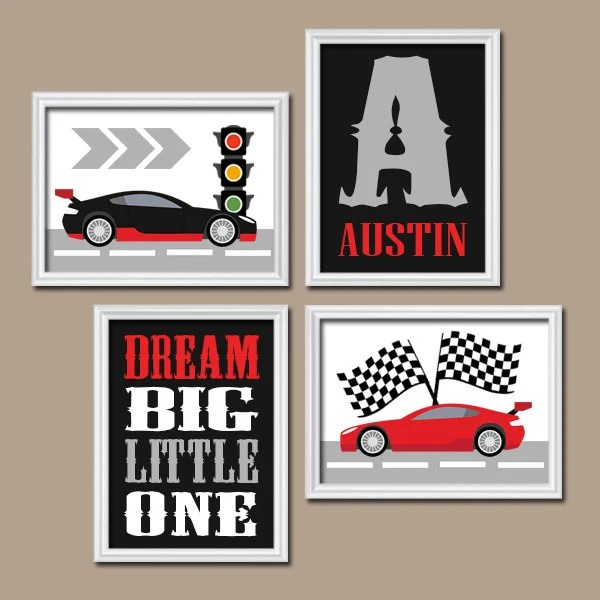 Best Race Car Wall Art Canvas Or Prints Cars Boy Nursery This Month