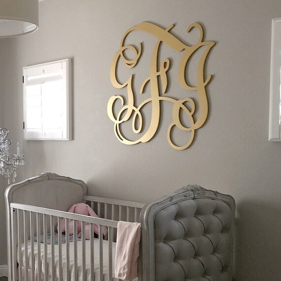 Best Wooden Monogram Large Wood Monogram Wall Hanging Letters This Month