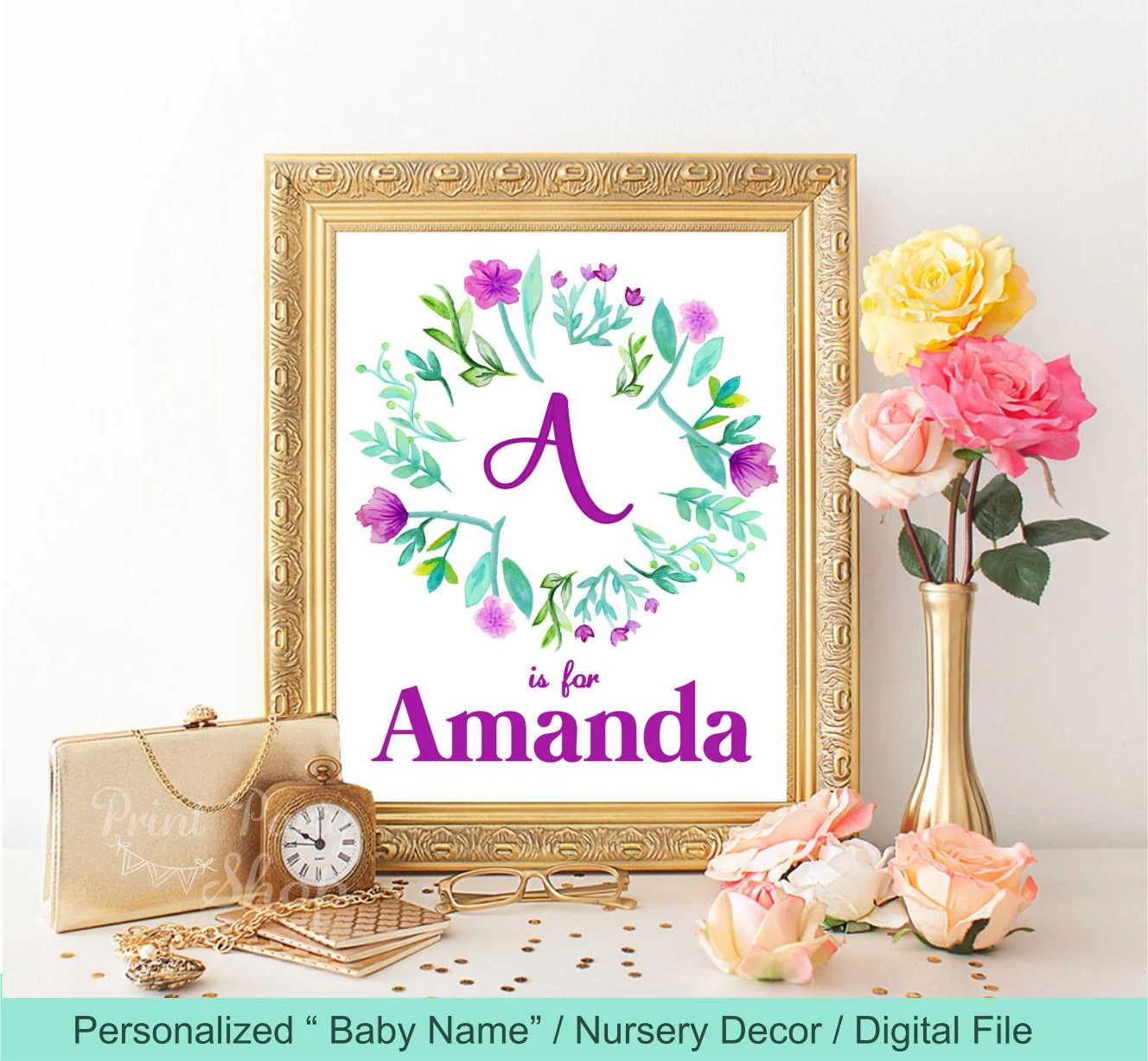 Best Baby Name Nursery Wall Decor Printable File Wall Art This Month