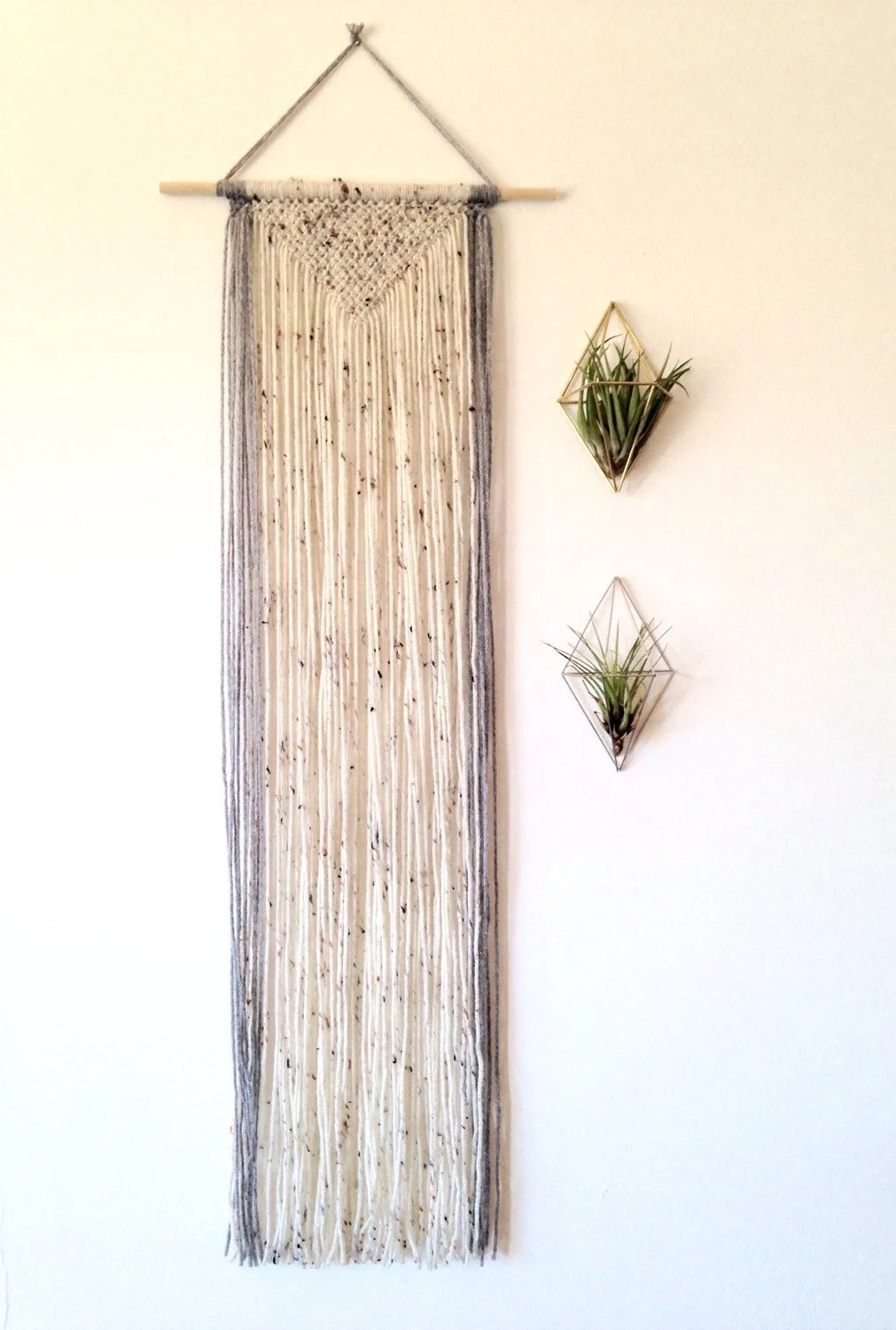 Best Macrame Wall Hanging Long Wall Hanging Geometric Wall Decor This Month