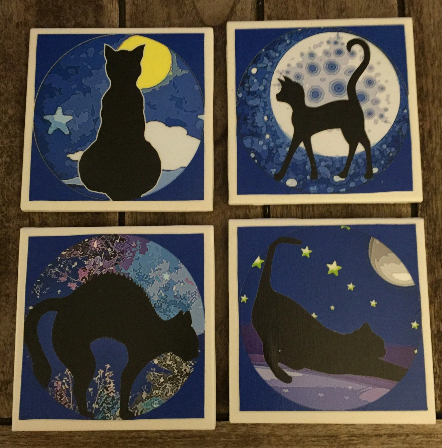 Best Decorative Tiles Cat Drink Coasters Wall Decor Home Decor This Month