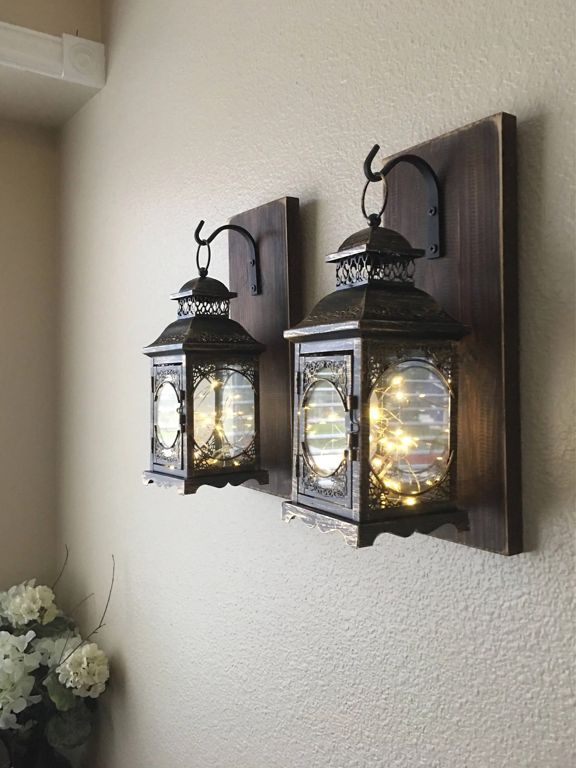 Best Hanging Lantern Sconces Farmhouse Wall Decor Lantern This Month