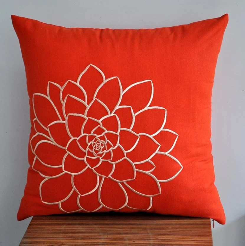 Best Orange Pillow Cover Decorative Pillow Cover Throw Pillow This Month