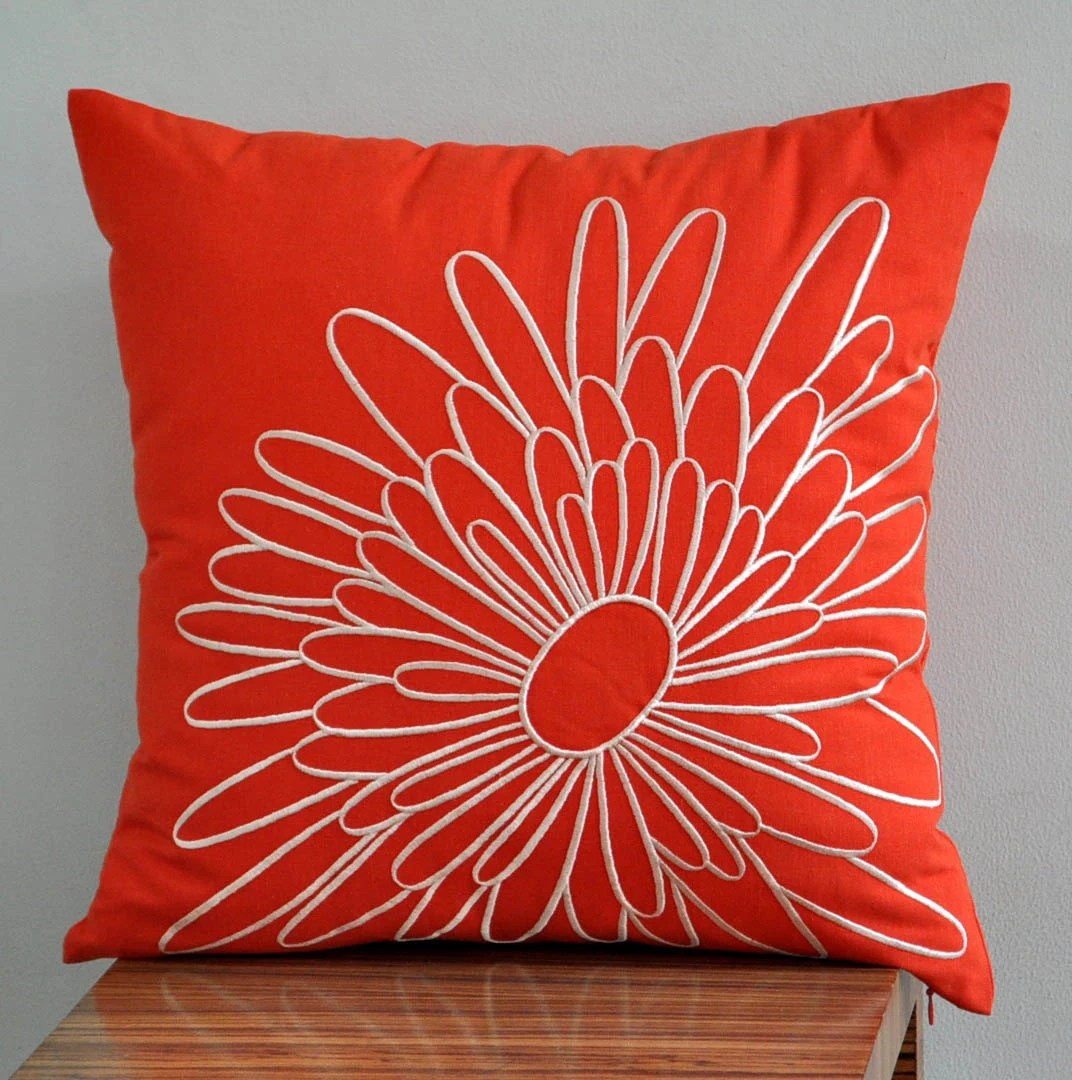 Best Orange Pillow Cover Decorative Pillow Cover Throw By Kainkain This Month