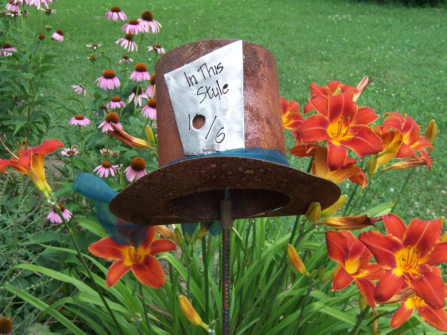 Best The Mad Hatter Alice In Wonderland Inspired Metal Garden Art This Month