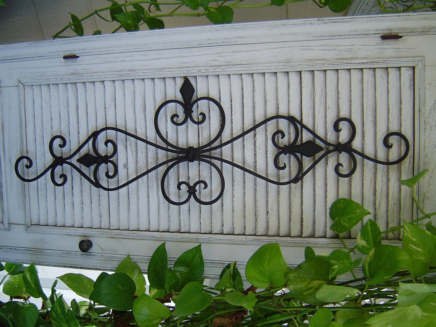 Best Large Black Architectural Iron Wall Scroll Scrolly Sculpture This Month